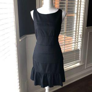 Ann Taylor black ruffled skirt dress size 6